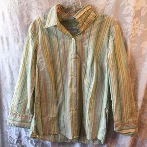 Villager colorful striped blouse-ladies 12